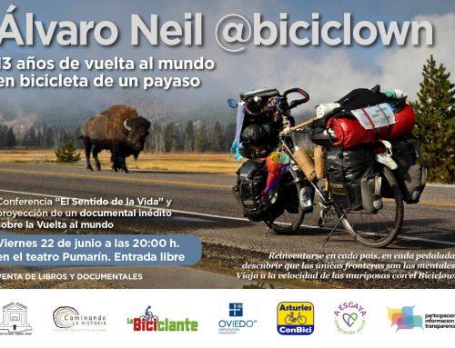 El Biciclown, charla-coloquio – 13 años de vuelta al mundo en bici.