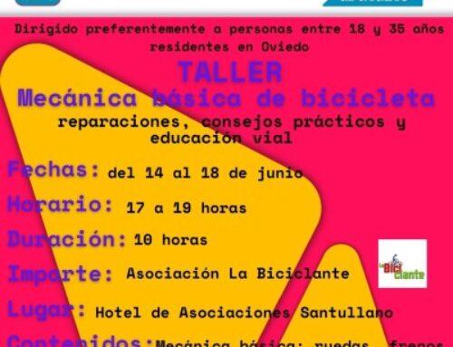 Curso de mecánica de la bicicleta – Hotel de Asociaciones Santullano, Oviedo