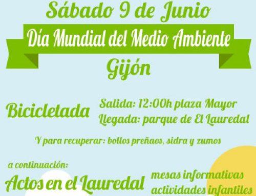 Bicicletada en Gijón para el Día Mundial del Medio Ambiente 2018
